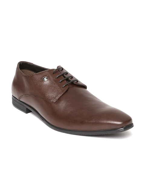 Hush Puppies Men Brown Leather Derbys