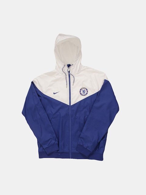 Nike Men Blue & White Solid Sporty Jacket