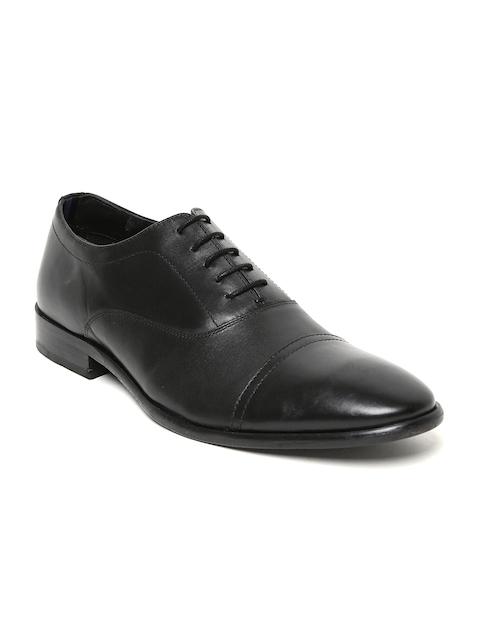 Bata Men Black Genuine Leather Oxfords