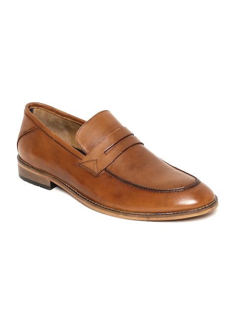 Bata Men Tan Brown Genuine Leather Semiformal Slip-Ons