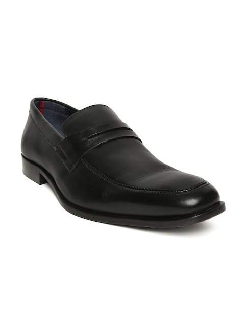 Bata Men Black Pearl Leather Semiformal Slip-On Shoes