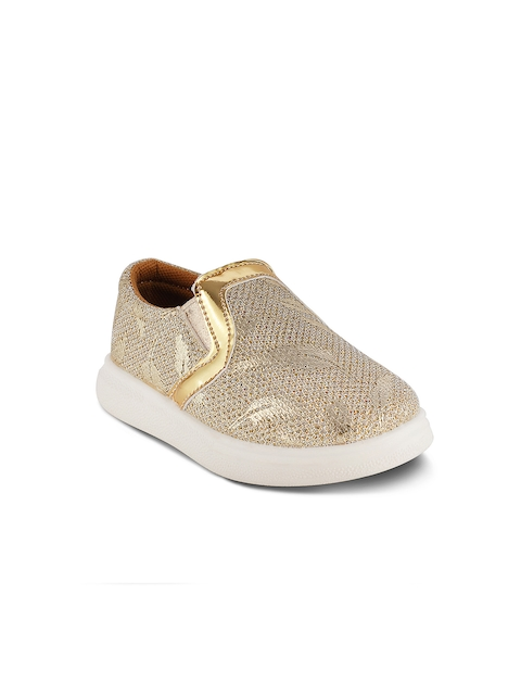 Kittens Girls Gold-Toned Sneakers