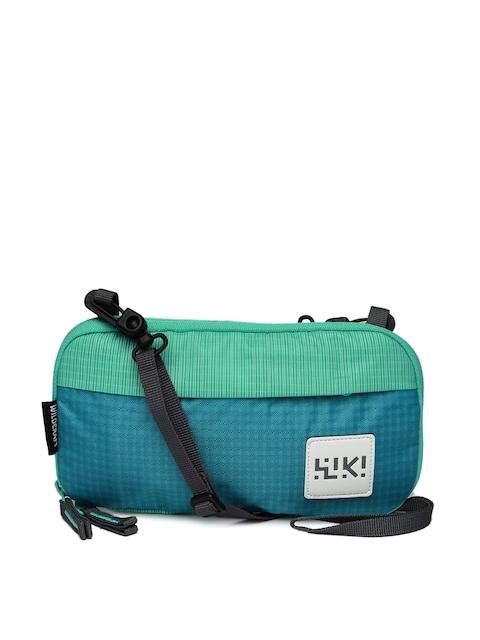 Wildcraft Wiki Unisex Green & Blue Travel Pouch