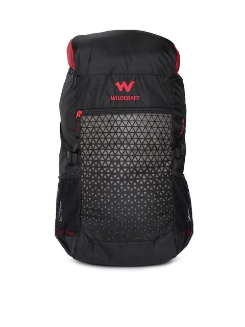 Wildcraft Unisex Black Verge 40 Rucksack