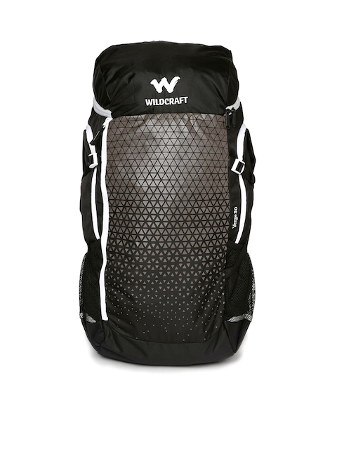 Wildcraft Unisex Black Verge 50 Rucksack