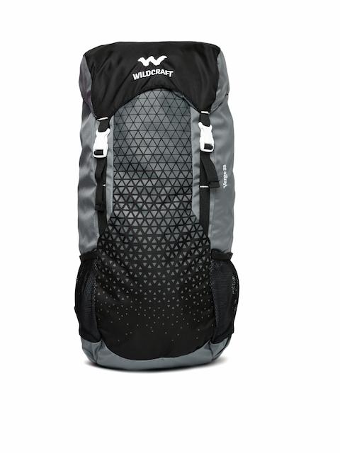 Wildcraft Unisex Grey & Black Verge 35 Printed Rucksack