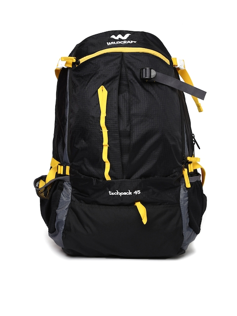 Wildcraft Unisex Black Techpack 45 Rucksack  available at myntra for Rs.3899