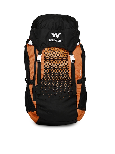 Wildcraft Unisex Black & Orange Verge 55 Rucksack
