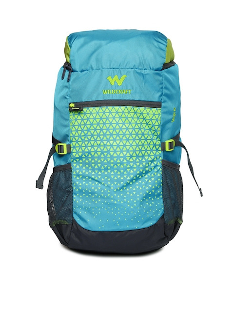 Wildcraft Unisex Blue Printed Verge 40 Rucksack