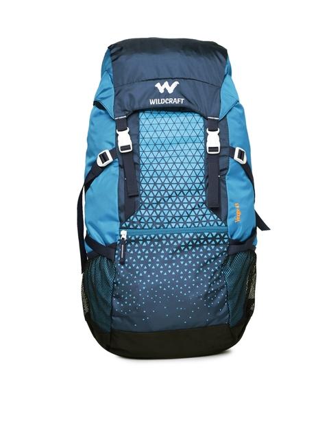 Wildcraft Unisex Blue Printed Verge 45 Rucksack