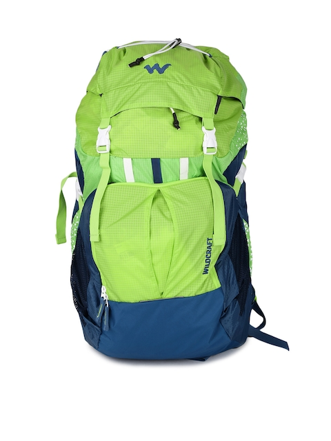 Wildcraft Unisex Green & Blue Printed Zephyr 40 Rucksack