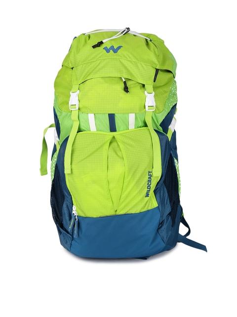 Wildcraft Unisex Green & Blue Printed Zephyr 40 Rucksack