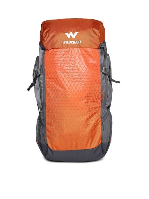 Wildcraft Unisex Orange & Grey Verge 50 Rucksack