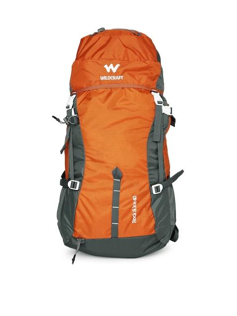 Wildcraft Unisex Orange & Grey Rock & Ice Rucksack
