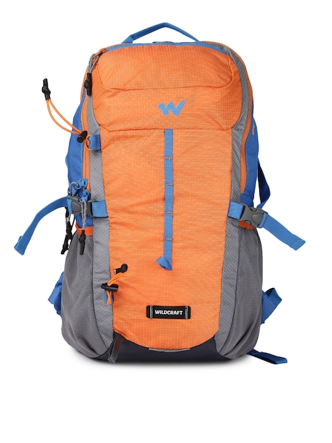 Wildcraft Unisex Orange & Blue Printed Daypack 25 Rucksack
