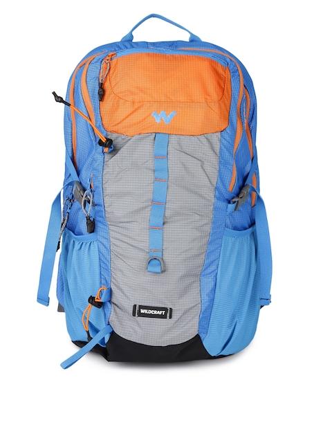 Wildcraft Unisex Orange & Blue Printed Daypack 30 Rucksack