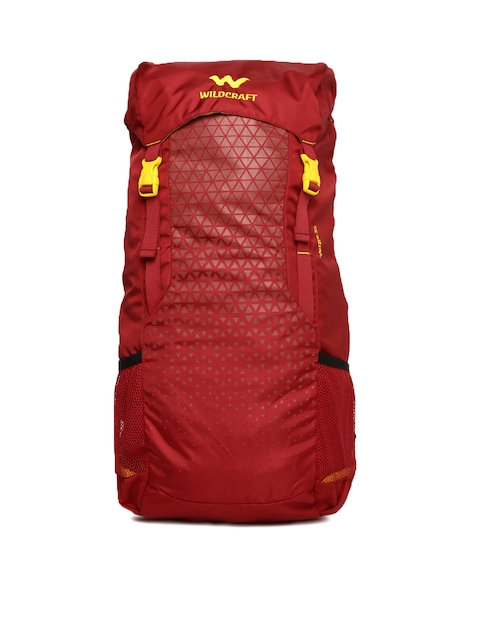 Wildcraft Unisex Red Verge 35 Printed Rucksack