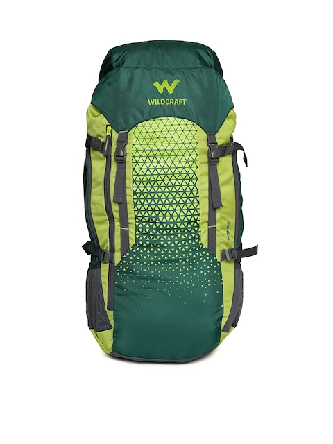 Wildcraft Unisex Teal Green Printed Verge 55 Rucksack