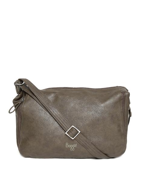 Baggit Olive Green Solid Sling Bag