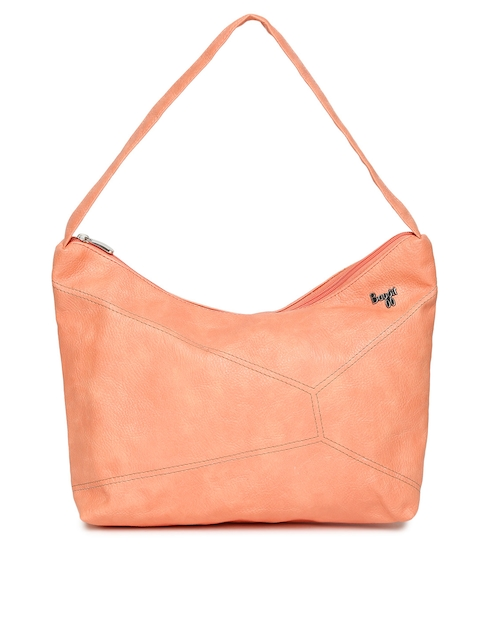 Baggit Orange Solid Hobo Bag