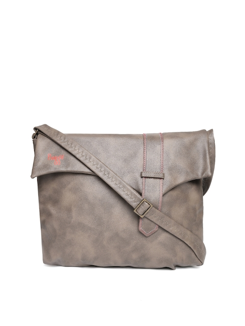 Baggit Taupe Solid Sling Bag