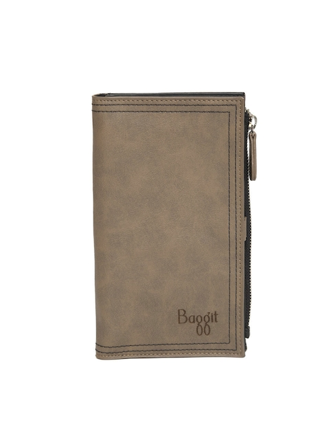 Baggit Men Taupe Solid Two Fold Wallet