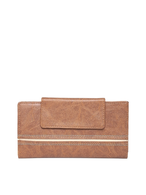 Baggit Women Brown Solid Two Fold Wallet