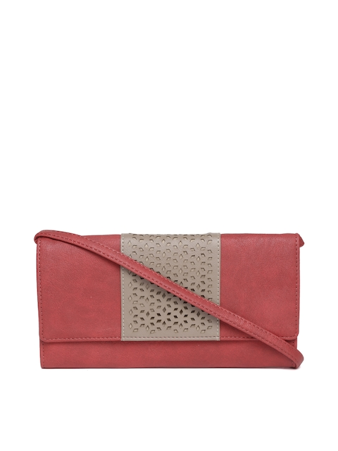 9b10210ccd5 Baggit Women Red Two Fold Wallet with Sling Strap