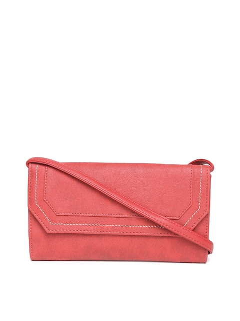 Baggit Women Red Solid Two Fold Wallet with Sling Strap