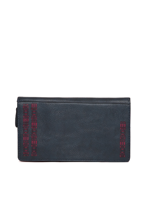 Baggit Women Navy Solid Zip-Around Wallet