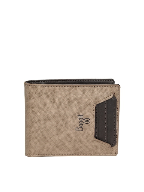 Baggit Men Beige Solid Two Fold Wallet  available at myntra for Rs.925