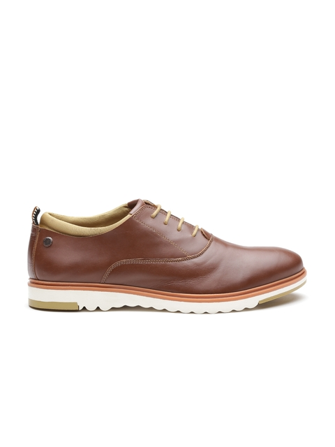 Jack & Jones Men Brown Leather Oxfords