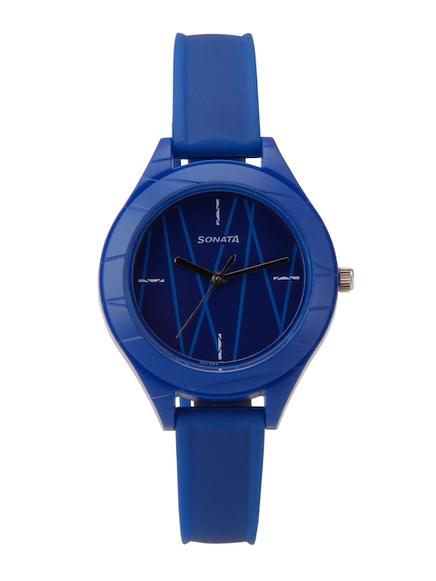Sonata Colorpop Women Navy Blue Analogue Watch 87023PP02