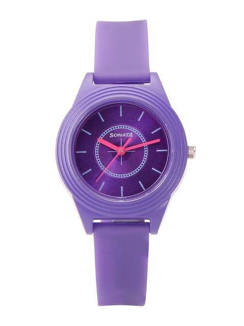 Sonata Color Pop Analog Purple Dial Girls Watch, 87024PP01