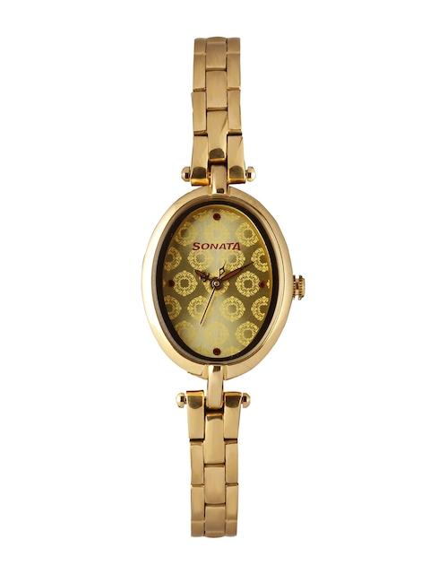 Sonata Wedding Collection Women Gold-Toned Analogue Watch 8148YM02