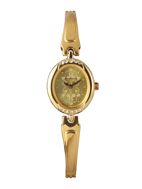 Sonata Wedding Collection Women Gold-Toned Analogue Watch 8118YM04