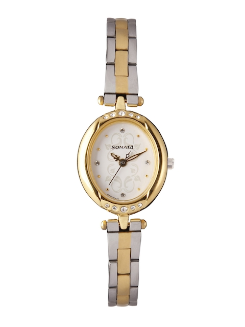 Sonata Women Off-White Analogue Watch 8118BM01