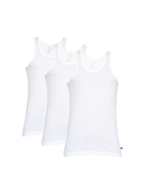 Jockey Men Pack of 3 White Innerwear Vests 8820-0305-ECWHT