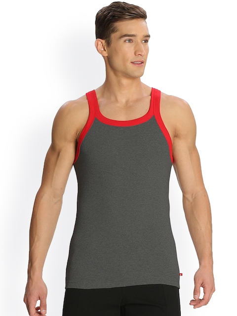 Jockey Charcoal Grey Innerwear Vest US27-0105
