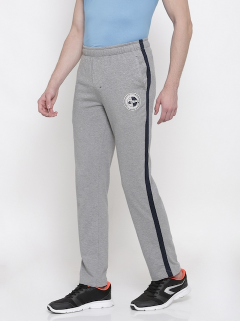 Jockey Grey Melange & Navy Slim Fit Track Pants