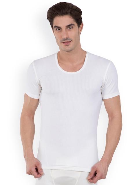Jockey Men White Thermal Top