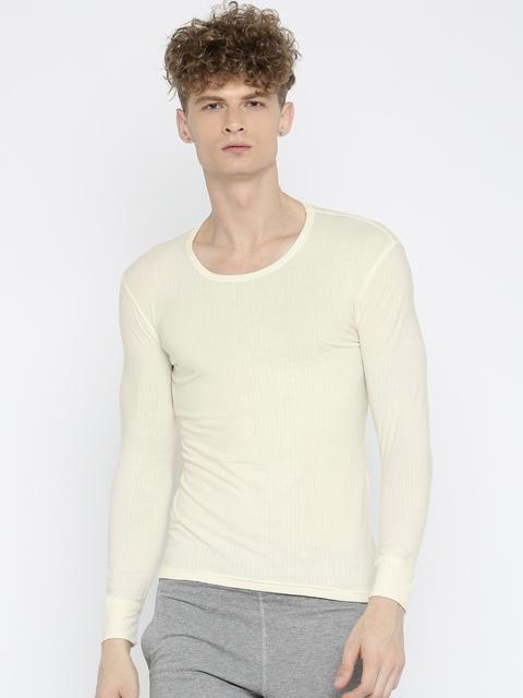 Jockey Men Cream-Coloured Thermal T-shirt