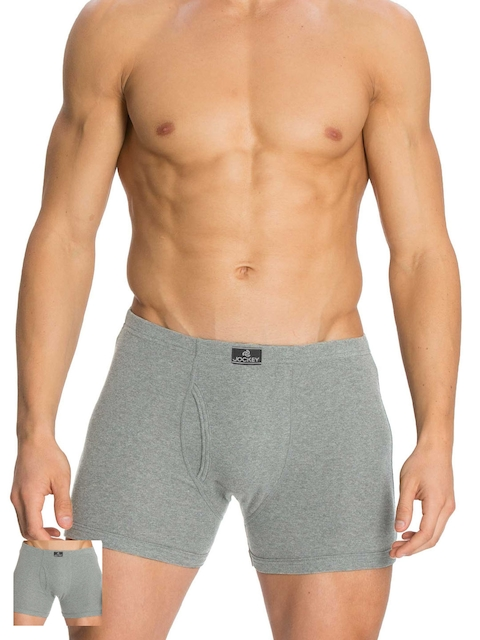 Jockey Men Pack of 2 Grey Boxer Briefs 8008-0205