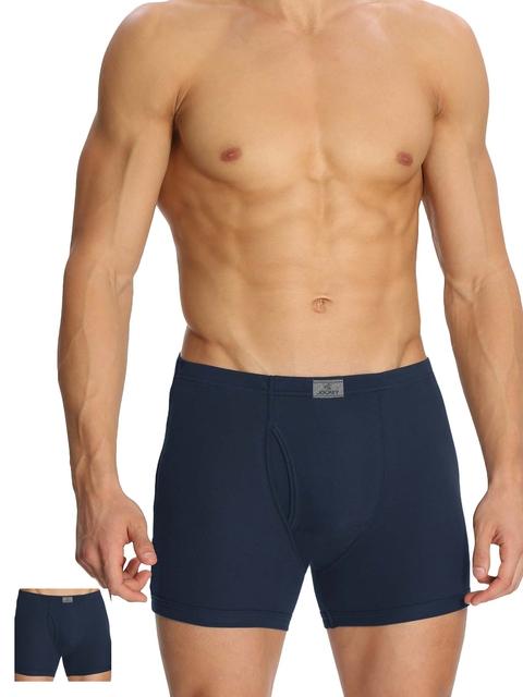 Jockey Men Pack of 2 Navy Blue Boxer Briefs 8008-0205