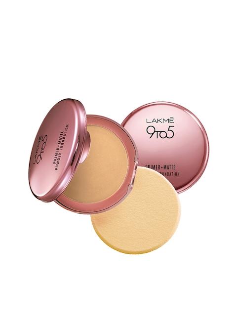 Lakme 9 To 5 Primer + Matte Powder Foundation Compact, Natural Light