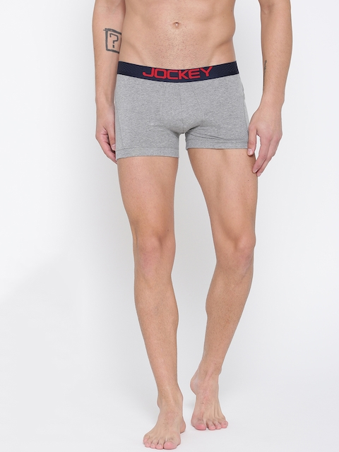 Jockey Men Grey Melange Boxer Briefs US20-0105