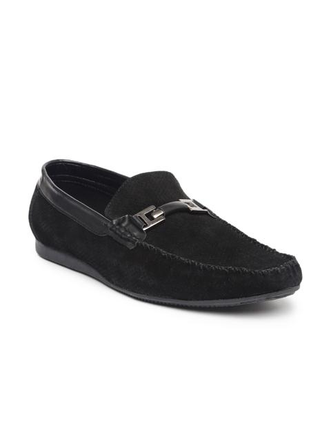 San Frissco Men Black Suede Loafers