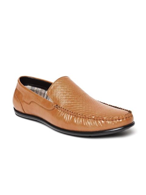 San Frissco Men Tan Brown Textured Loafers