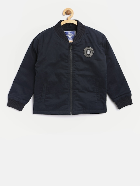 612 league Boys Navy Solid Padded Jacket