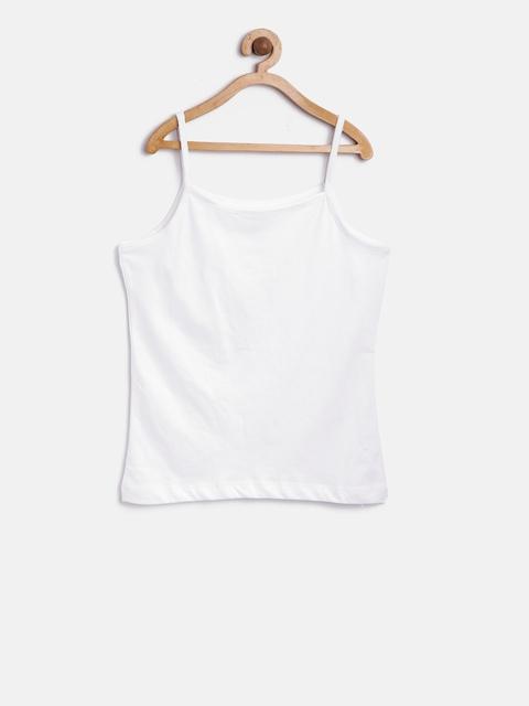 612 league Girls White Camisole ILS17I97003
